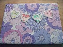 * making a pretty fabric covered notice board *