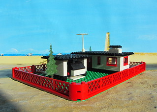 LEGOLAND House And Mini Wheels Car Set 345 1969 Diorama - 7 Of 29