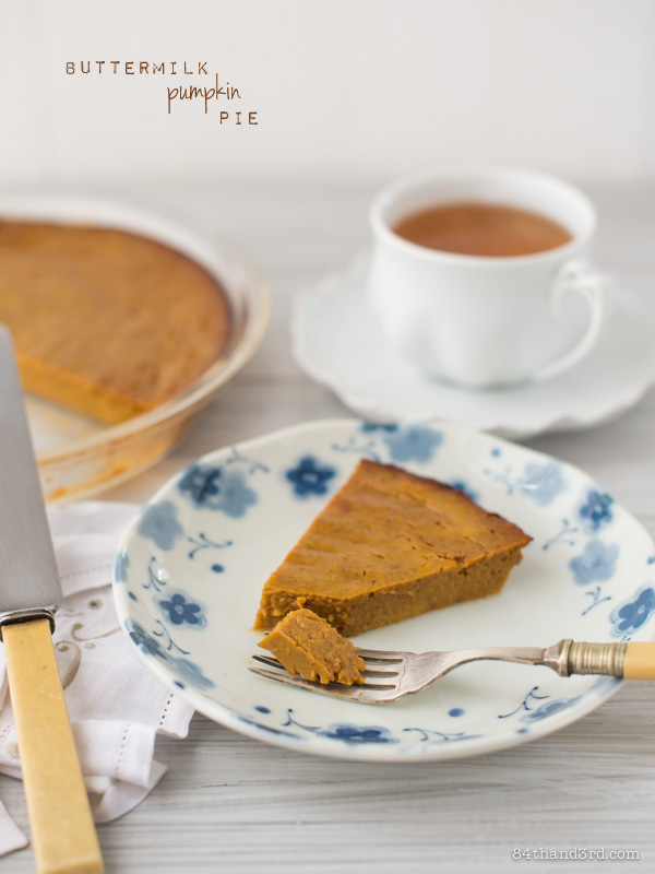 Buttermilk Pumpkin Custard Pie