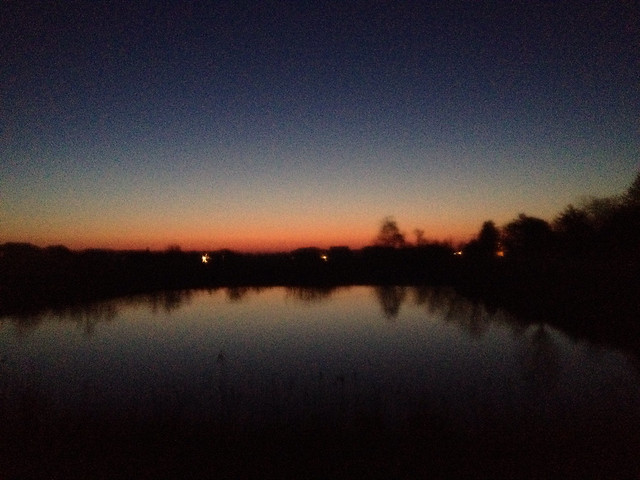 On The Cusp #morning #alongmyrun #sunrise #water #reflection #blurryonpurpose