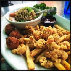 Irene got crawfish two ways #food #foodporn