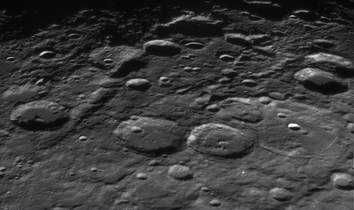 Rheita Vallis Region On Moon