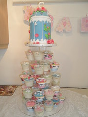 Baby Shower Birdcage Cupcake Tower