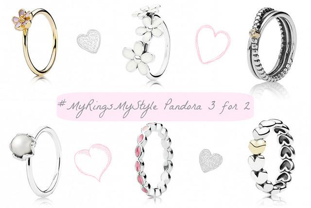Pandora 3 for 2 stacking rings