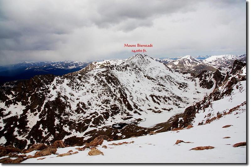 Mt. Bierstadt seen from Hwy