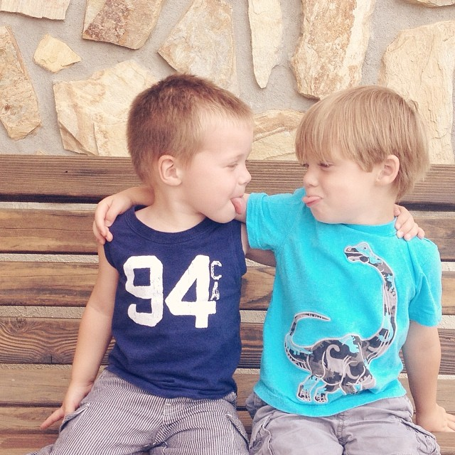Silly boys! So grateful to watch my kids become friends with my best friends' kids! #365grateful #silly #boys #goof #love