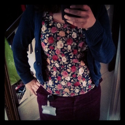 #mmmay14 Day 28: rosy top goes back to winter. It's a 40 denier kind of day :-(