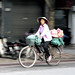 Hanoi Woman on Bicycle by YT Blue