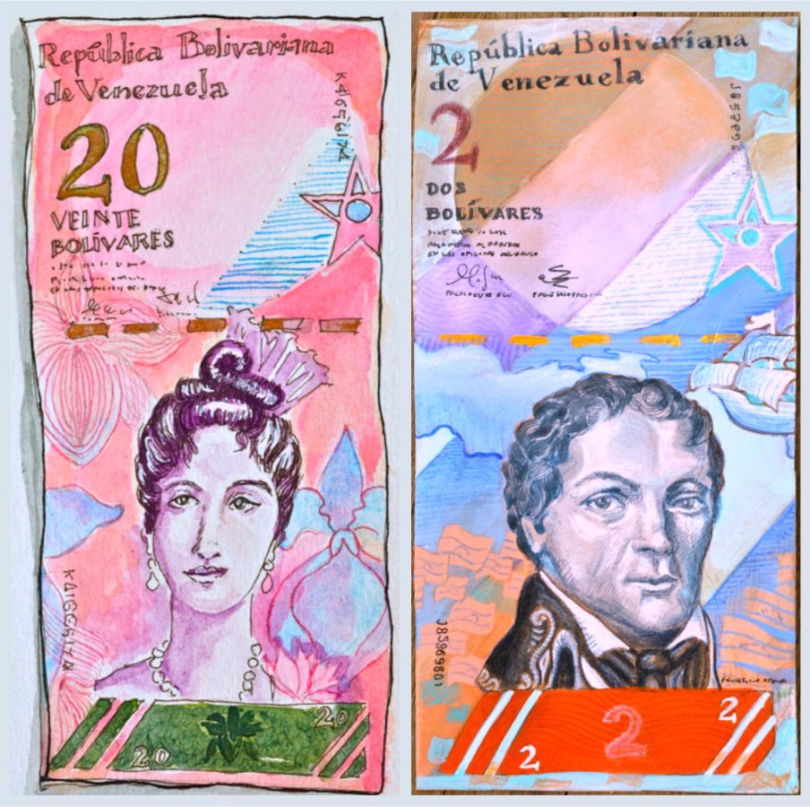 Veinte y dos Bolívares