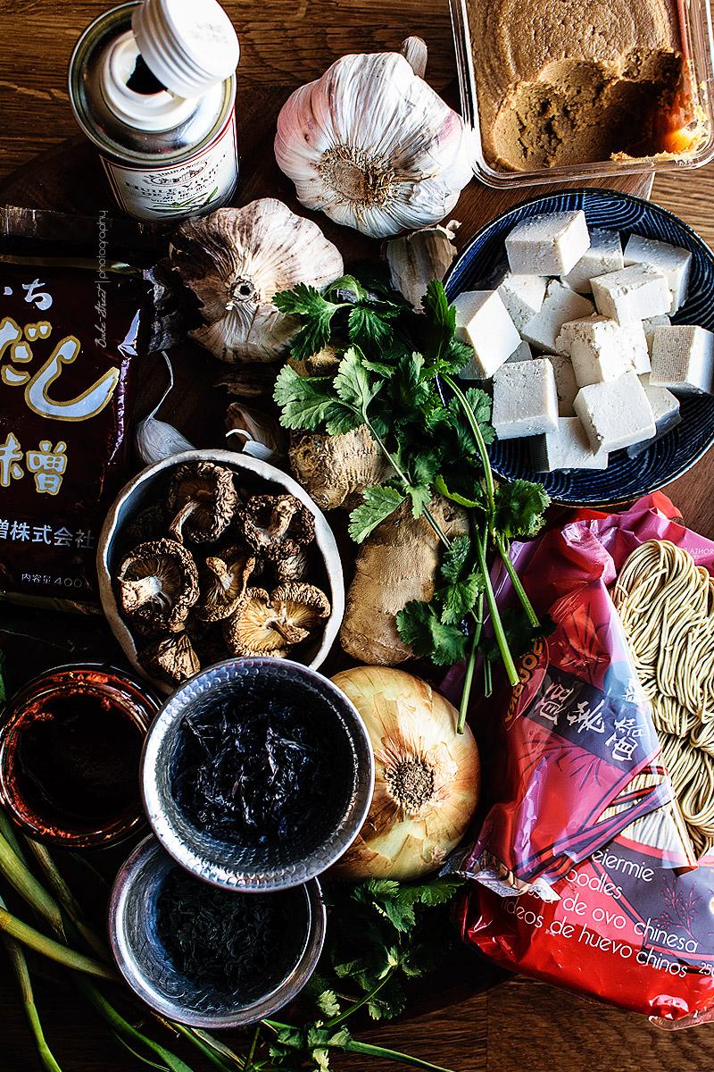 Ramen picante con tofu