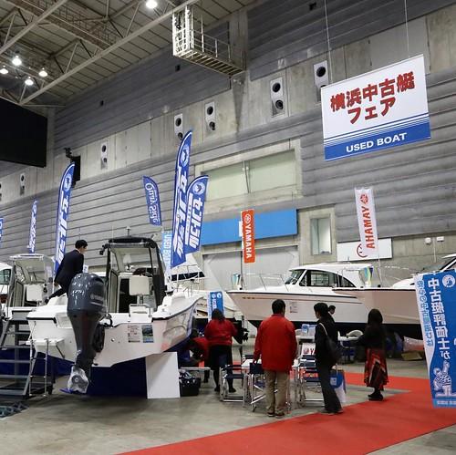 中古艇の販売コーナーも。 #ジャパンインターナショナルボートショー2017 #ボートショー #パシフィコ横浜