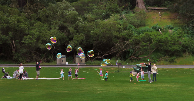 big bubbles at Speedway meadows; golden Gate Park, San Francisco (2013)