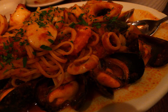 mussels, calamari, clams, shrimp