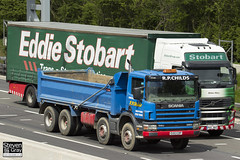 Volvo FH 6x2 Tractor - PX11 BXZ - Gillian Mary - Eddie Stobart - M1 J10 Luton - Steven Gray - IMG_8881