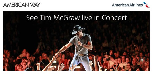Tim McGraw American Airlines American Way magazine sweepstakes
