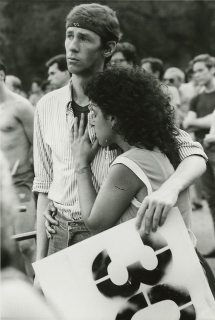 First AIDS Memorial Service, 13 June 1983 by Lee Snider (Via New York Historical Society)