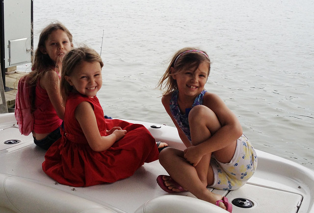 halie sass and aves on boat