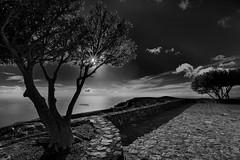 Sunset in black and white. La Gomera
