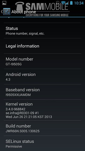 Android 4.3 для Galaxy S4 GE