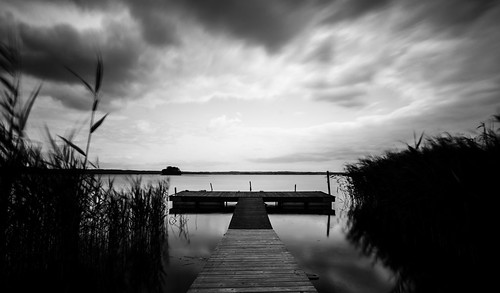 white black landscape long exposure cloudy sweden