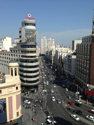 Gran Vía, con Plaza de España al fondo. Centro. Madrid