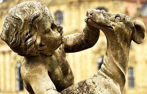 Würzburg Hofgarten Residenz Putte Putten Garten Skulptur Hofbildhauer Johann Peter Wagner