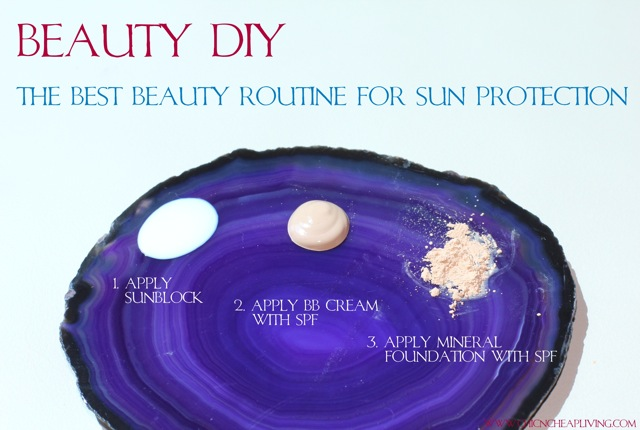 Sun protection routine by Chic n Cheap Living