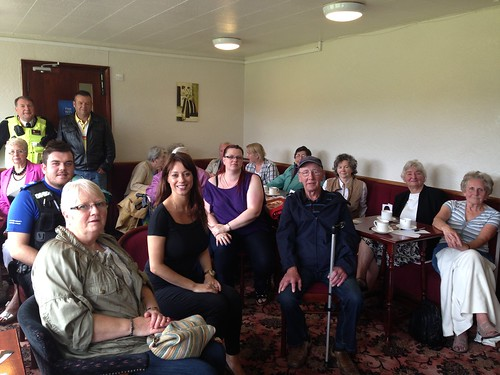 Gloria hosts another coffee morning for Kirkby residents at the Bentinck