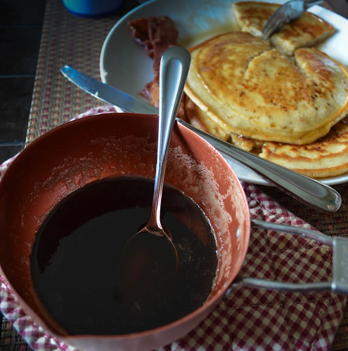 Pecan Porter Pancakes and Syrup