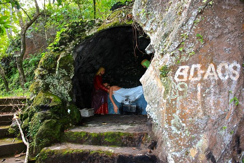 Stations of the Cross on a path leading up to Camiguin's old volcano