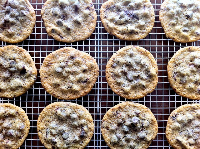 Chocolate Chip Cookies Cooling