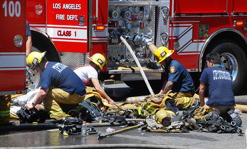 LAFD Battles a Greater Alarm Motel Blaze in Van Nuys; 4 Injured