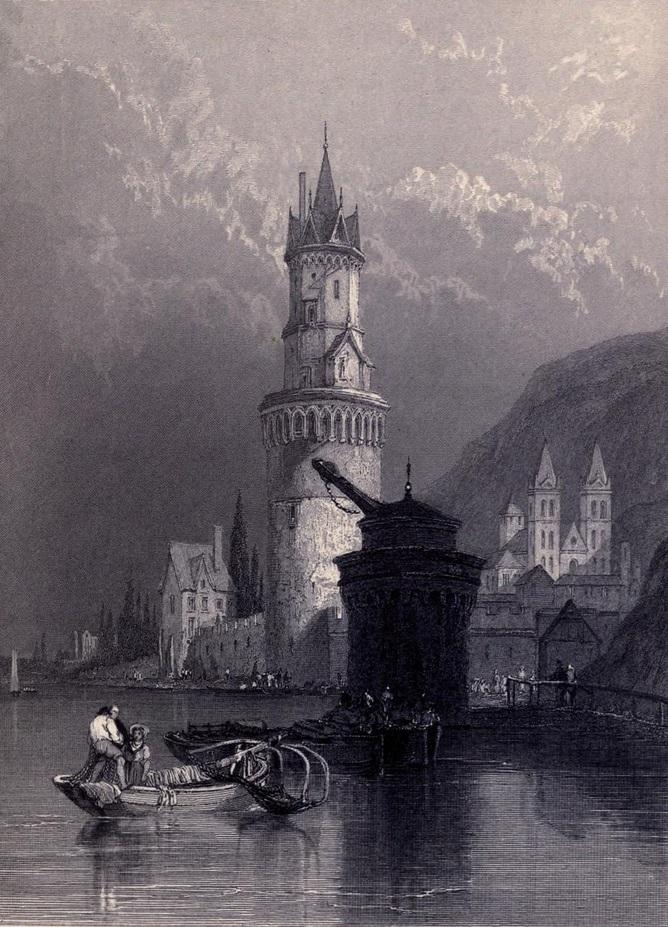 2. Andernach. Boceto de Clarkson Stanfield. 1833. Autor, Ayacata7