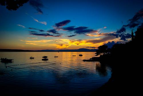 sunset sea summer croatia hrvatska crikvenica kvarner