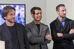 Architetto Matteo Origoni, Max Salmi SCM Group e Mike McKeige.