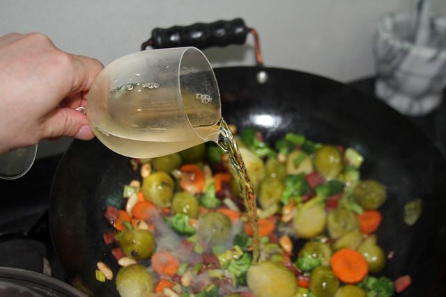 Salteado de Vegetales, jamón y Almendras (20)