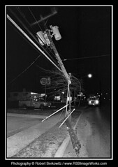 1976-01 - Car Accident, Broken Telephone Pole, Old Country Road, Plainview, NY