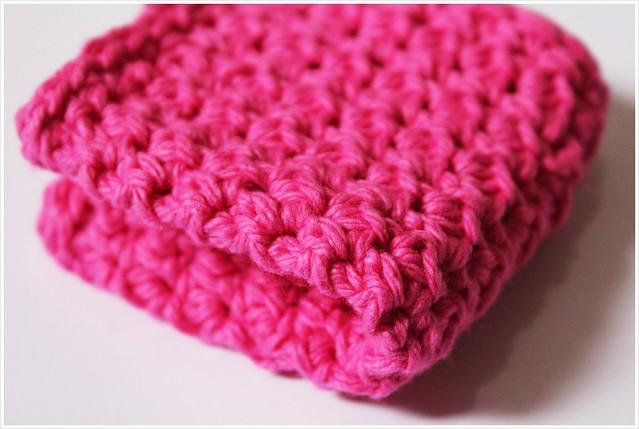 crochet dishloth 1-folded