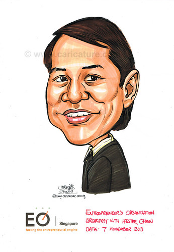 Mr Hester Chew caricatrue for EO Singapore