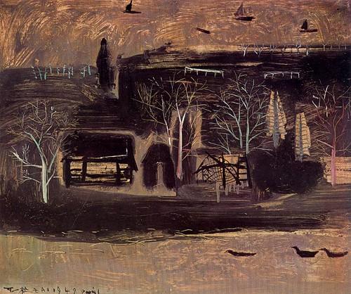 Zao Wou-ki (1921- 2013) - 1949 Landscape (Private Collection)