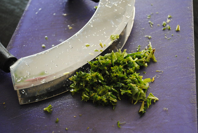 image chopped herbs
