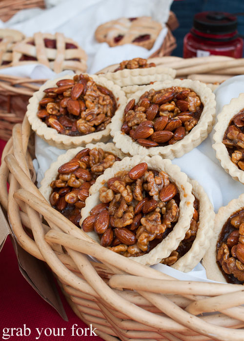 walnut almond nut tartlets dessert Logan Square Farmers Market greenmarket producers Chicago Illinois