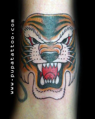 Tatuaje tigre Pupa Tattoo, Granada by Marzia PUPA Tattoo
