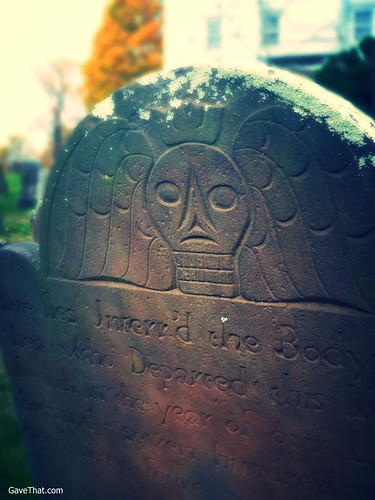 Eighteenth Century Winged Skull Headstone