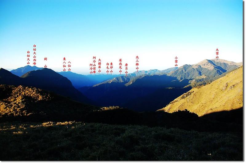 谷關群峰(From 大劍山朓向西南) 1-1