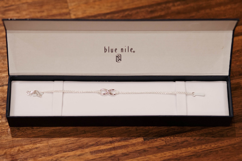 cute & little blog | blue nile sterling silver infinity chain bracelet #giveaway