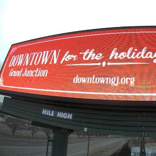 Digital billboard on hwy 6&50 designed by meee!