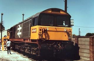 85-411 Class 58s at Open Days in the 1980s - two of two; No. 58-004 at Reading