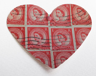 stamp heart red 1960s