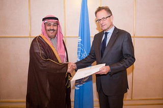 NEW PERMANENT REPRESENTATIVE OF SAUDI ARABIA PRESENTS CREDENTIALS